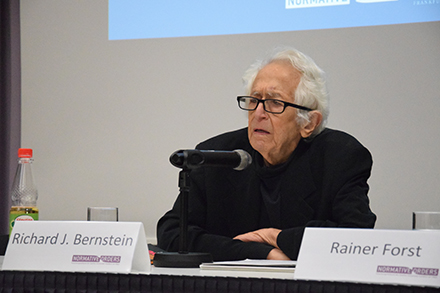 Prof. Richard J. Bernstein (Vera List Professor of Philosophy in the Philosophy Department at the New School for Social Research)