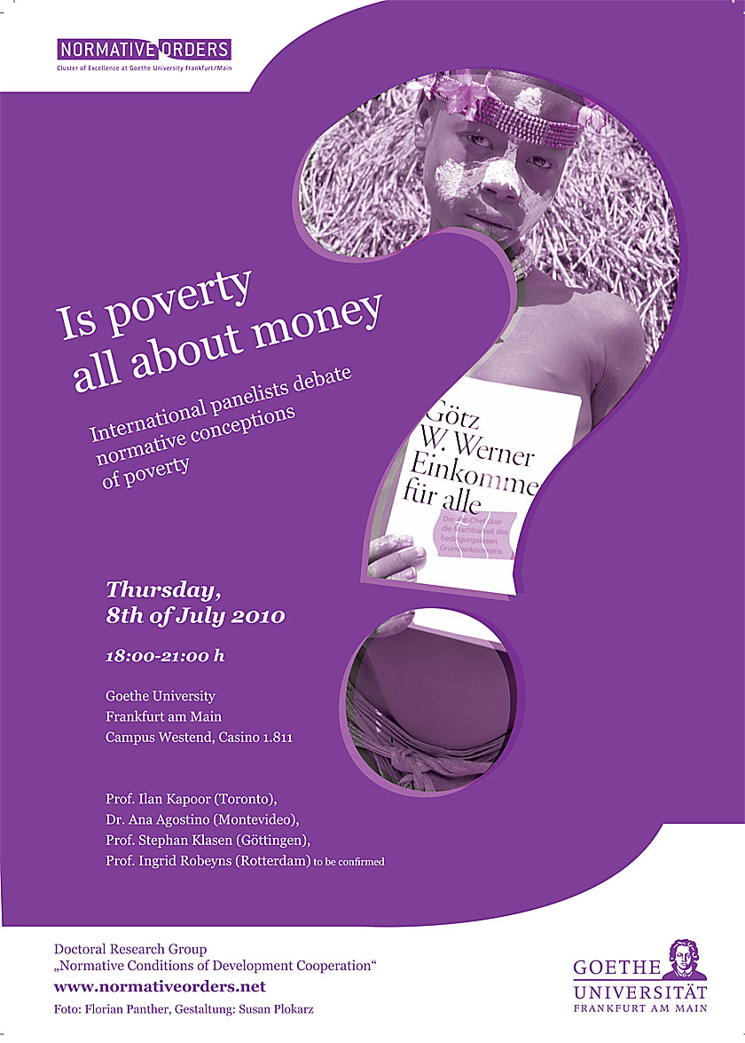 Plakat: Is Poverty all About Money?