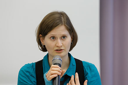 Regina Hack (Frankfurt, organizer of the conference)